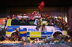 (Christine H.C. Valenzuela) Tags: stockholm sweden sverige terror attack people community united grieving tragedy 2017 peace terrorism love unity swedish svenska svenskar police polis flowers europe life