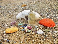 Beach sculpture near Filey.