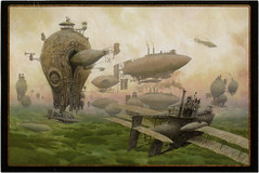 postcard - from Tinwe, Russia 1 (Jassy-50) Tags: postcard postcrossing russia art artwork steampunk airship aviation fantasy