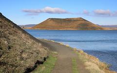 Skútustaðagígar (hó) Tags: skútustaðir skútustaðagígar lake mývatn iceland landscape crater pseudocrater path water cloud may 2017 geology volcanic