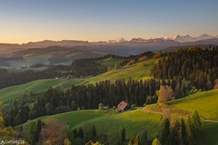 Sunrise - Moosegg (Captures.ch) Tags: 2017 alps bern black blue brown capture eigermmönch emmental farms forest gray green hills hohgant jungfrau landscape langnau moosegg morning mountains orange perfect red road schrattenfluh schweiz spring sunrise swiss switzerland trees white