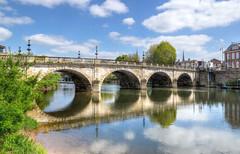 Welsh Bridge, Shrewsbury (Baz Richardson (now away until 27 May)) Tags: shropshire shrewsbury welshbridgeshrewsbury 18thcenturybridges gradeiilistedbridges riversevern rivers