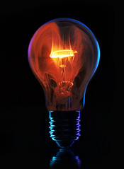 That's what you get!, drilling a hole in a lightbulb! (Wim van Bezouw) Tags: light bulb lightbulb object sony ilce7m2 blackbackground smoke fire melting