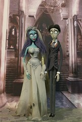 Corpse Bride Emily and her Bridegroom Victor (Annette29aag) Tags: doll figure corpsebride movie emily victor timburton