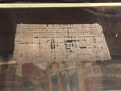 A portion of the Book of the Dead, worn rolled up as an amulet by Butehamun (radiowood) Tags: butehamun papyrus book dead amulet egypt valley kings deir elmedina turin museum italy