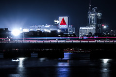 Citgo Sign at Night (TomBerrigan) Tags: fenway citgo sign boston kenmore massachusetts