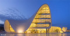 Heydar Aliyev Centre, Baku, Azerbaijan (explored) (AdelheidS Photography (at work in Scandinavia now)) Tags: adelheidsphotography adelheidsmitt adelheidspictures azerbaijan baku heydaralijev conferencehall museum citylights bluehour blue building canoneos6d canonf4l2470mm evening architecture modern