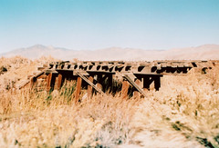 Porst SP Carson & Colorado Railway 4 (▓▓▒▒░░) Tags: vintage classic retro analog mechanical 35mm film camera history japan 70s 80s california west coast historic desert abandoned ruins highway 395 owens valley sierra nevada mountains eastern lone pine big independence bishop randsburg
