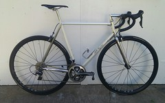 20170423_171544-1 (AR Cycles) Tags: ar cycles custom columbus true temper ox platinum kva stainless steel henry james lugs lugged road bike mechanical shimano dura ace pearl white paint polished fillet stem chrome internal cable routing