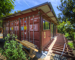 Shipping Container House I (Decaseconds) Tags: architecture structure hdr nicasio marin california shippingcontainer house home exterior deck construction