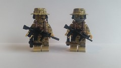 Navy SEAL and Marine (影Shadow98) Tags: lego special forces modern military brickarms tiny tactical minifigcat navy seal us marine m4a1