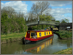 'Bryn' (Jason 87030) Tags: braunstonturn bridge iron smiles friendly happy boat narrowboat boaters holiday leisure scene setting canal guc grandunioncanal rare pretty exclusive capture explore exist amazing pro amateur snap photo super great fantastic yellow mustard maroon worsester outfit lady woman man people reflection april 2017 sony 16000 ile nex ilce lens tag flickr craft bryn crt oxfordcanal