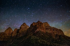Nightime in the Promised Land (EricGail_AdventureInFineArtPhotography) Tags: zion east temple twinbrothers canon 6d nightscape stars