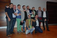 Grupo de actores, con el director (almeriainformacion) Tags: cine documental la fosa borrada del sur memoria histórica almería museo de