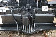 IMG_6692 (joyannmadd) Tags: galvestonrailroadmuseum texas trains railroad tracks traindpot museum historic cars engines memorobilia old sculptures silver diningcar menu plates wheels