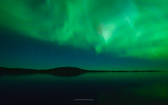aurora with shooting stars (ciwi8) Tags: greenland grönland southgreenland südgrönland stars shootingstars northernlights light aurora auroraborealis green covered sky blue sparkling shining landscape nordlicht polarlicht night longexposure