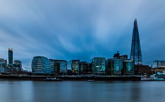 City blues (Anthony P26) Tags: architecture category citiestowns england external london places riverthames theshard travel longexposure cloudblur cloudy cloudysky clouds sky river water smoothwater canon70d canon sigma1020mm cityscape skyline outdoor architecturephotography travelphotography evening cityhall blue buildings modernbuildings capitalcity city uk unitedkingdom english british greatbritain britain citylights