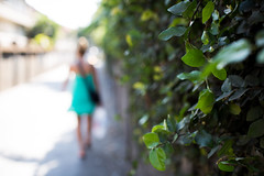 walking around.. (paul.wienerroither) Tags: dof depthoffield bali walk walking light road green greenisbeautiful leaves girl bokeh plant plants canon 50mm 5dmk3 indonesia travel photography