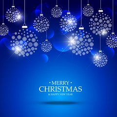 christmas balls made with snowflakes hanging on blue background (Tips4Live) Tags: merry christmas xmas winter celebration background festival greeting eve happy new year festive december merrychristmas card holiday ball christmasball decoration bokeh snow snowflake flake snowy icy cool cold