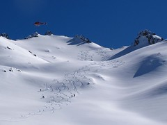 Heliskiing somewhere in the Andes
