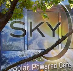 Sky Bar (galiuros) Tags: skybar tucson tucsonarizona fourthavenue windowglass solarpowered cafe bar sky