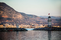 Feel it (Melissa Maples) Tags: alanya turkey türkiye asia 土耳其 nikon d3300 ニコン 尼康 nikkor afs 18200mm f3556g 18200mmf3556g vr spring dusk evening mountains fener lighthouse harbour marina mediterranean sea water