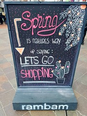20170426_132136 (Daniella Velings) Tags: rambam sunshine comeinside eindhoven city cityfinds stad centrum chalkboard message saying streetart clothingstore straatkunst springiscoming spring springisnatureswayofsayingletsgoshopping letsgoshopping shopping funny zonneschijn lente