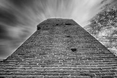 Mur de briques (Robinl81) Tags: nb black white hdr castel chateau ruine ruined brique brick monochrome tour tower