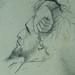COURBET Gustave - Tête et Personnages, Etudes (drawing, dessin, disegno-Louvre RF29234.20) - Detail 60