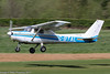 G-BTAL - 1978 Reims built Cessna F152 II, inbound on Runway 26R at Barton