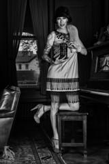 (CJ Schmit) Tags: wwwcjschmitcom 5dmarkiii canon canon5dmarkiii cjschmit cjschmitphotography canonef50mmf18ii photographermilwaukee milwaukeephotographer photographerwisconsin racine racinewisconsin dragonspitstudios henrysdurandmansion wisconsin nightswithgatsby piano office camera femalemodel woman hat 1920 mansion modelshoot studiolighting monochrome niksilverefex2 blackandwhite bw alienbeeb800 fotodioxezpro24 beauty dishcybersyncpaul c bufftwig noir tattoos ink heels dress pearls twig