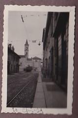 Chiesa di San Cristoforo inquadrata da via Pestalozzi 1927 Circa (Milàn l'era inscì) Tags: urbanfile milanl'erainscì milano milan oldpicture milanosparita vecchiefoto san cristoforo