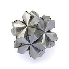 Intention #origami #kusudama (_Ekaterina) Tags: origami kusudama unitorigami modularorigami ekaterinalukasheva grey silver kraft geometry