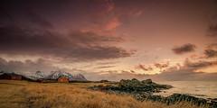 Late winter at Gimsoy (Reidar Trekkvold) Tags: gimsøy lofoten nordland norway vår spring seaside seascape winter mountain fjell sunset sol sky skyer fujifilm xt10