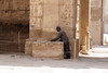 Keeping the Temple Clean (Chris Irie) Tags: medinethabu thebes luxor egypt temple cleaning