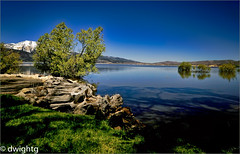 High water……………….. HSS (dwight g) Tags: canon 6d 24105 washoe lake water trees mountain hdr ps topaz