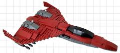 Martian Mining Consortium Territorial Defense Spaceplane (Jayfourke) Tags: lego space spaceship spaceplane 200 years future