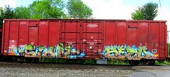 sion - sero (timetomakethepasta) Tags: sion sero sbk tr boxcar freight train graffiti art benching selkirk new york photography