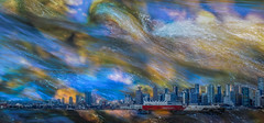 My City - Vancouver in Raining Season (Photo Alan) Tags: doubleexposure vancouver city cityscape cityofvancouver cloud clouds canada outdoor