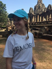 Micaela at Angkor Thom