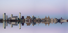Liverpool Skyline (dannykenealy) Tags: liverpool city skyline dusk pano river buildings heritage liver three graces