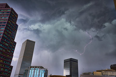Afternoon Hail Storm and Lightning (Denverphotoscapes) Tags: nikon storm hail denver denverbuildings denvernow denverphotoscapes lightning architecturalphotography skyscraper skyhousedenver downtowndenver projectweather