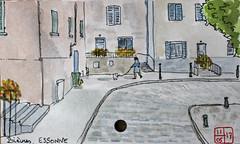 Le Tour de France virtuel - 91 - Essonne (chando*) Tags: aquarelle croquis sketch watercolor france