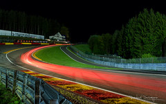 Eau Rouge at night (@raphcars) Tags: rouge spa classic 2017 francorchamps raidillon eau night trail lights red corner virage famous circuit track peter auto race car racer racing heritage touring cup nuit grass vibreur curb spafrancorchamps piste catchy colors canon eos 7d mark ii canoneos7dmarkii l series lseries 2470mm ef2470mmf28liiusm long exposure longue pose light painting drawing rear tail lightroom blending multiple historic fence armco raphcars