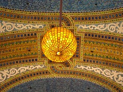 Tiffany mosaic dome, circa 1907, Marshall Field's (Macys), Chicago (rwchicago) Tags: chicago loop downtown city urban marshallfields macys mosaic tiffany favrile louiscomforttiffany