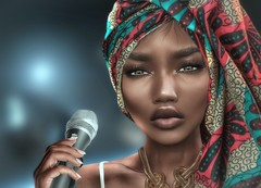 {Theme Pic} Miss Badu is always comin' for real you know the deal (.:Ric Applewhyte:.{CLOSED for clients}) Tags: secondlife avatar avatarbeauty bento catwa meshed meshhead ricapplewhyte ethnic ebony sl digitalart photoshop
