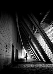 Hong Kong (Mark Fearnley Photography) Tags: street architecture lines atmosphere drama mood silhoutte silhouetting hongkong streetphotography finart art bpwcp blackwhite blackandwhite bnw