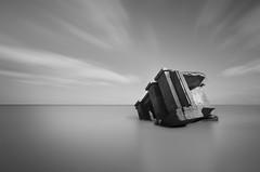slab (Illogical_images) Tags: ww2 concrete bunker war illogicalimages longexposure loxia sony a7r black bw blackandwhite mono minimal beach rural