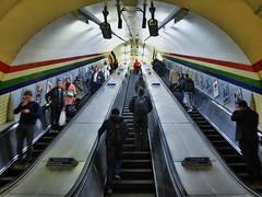 Red Summiteer (Douguerreotype) Tags: england london people tunnel 3 uk underground urban british stairs city escalator britain subway gb metro tube steps