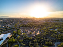 Las Vegas Skyline (Antoine Grelin) Tags: las vegas nevada photography drone mavic pro wetlands henderson sunset sky landscape skyline